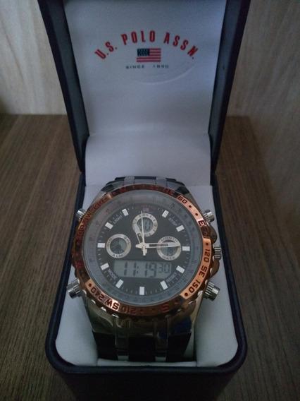 Relógio Masculino Com Caixa Us Polo 9373 Original