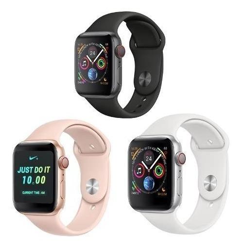 Smartwatch Iwo8 44mm Serie4+pulseira+ Pelicula+case+ Frete