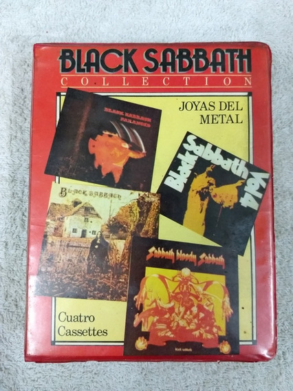 Cassette-black Sabbath-box 4cass-metal-onda Maiden-ozzy-dio