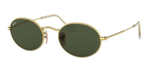 Óculos De Sol Ray Ban Oval Rb 3547 001\31 - Original