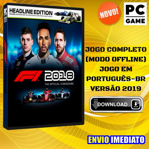 F1 2018 Headline Edition - Pc - Português - Envio Digital