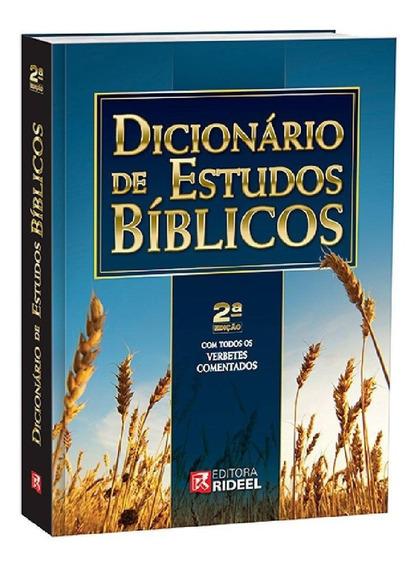 Dicionário De Estudos Bíblicos Rideel - 2a. Ed Novo