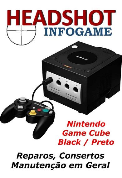 Consertos Manutenção Para Nintendo Game Cube Preto Jet Black