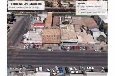 Se Renta Terreno Comercial Con Estructura De Bodega En Av. Madero