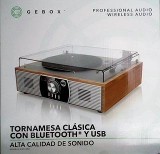 Tornamesa Con Bluetooth Y Usb
