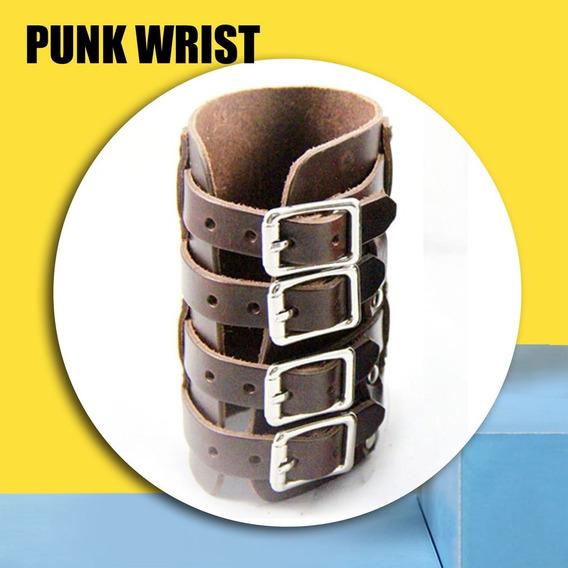 Pulso Couro Personalizado Proteção Para A Mão Steampunk Punk