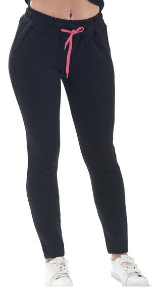 Jogging Pantalon Mujer Deportivo Semi-chupin Frizado Algodon