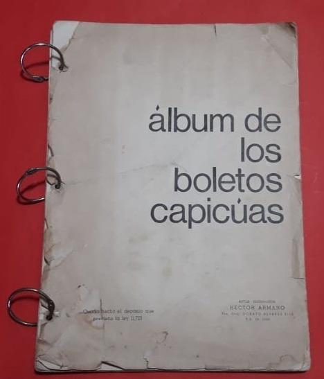 Antiguo Album Boletos Capicua 304 Boletos