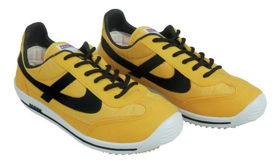 Panam Tenis Jogger Unisex Amarillo / Negro Modelo 0875 089