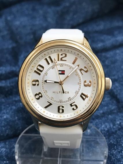 Relógio Banh. Ouro Nivel Omega Tommy Hilfiger Grandão Lindo