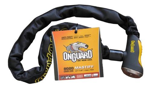 Tranca De Moto Cadena Mastiff 8020 110cm-10mm Onguard