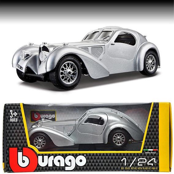 Auto Bugatti Atlantic 1936 Esc 1:24 Metal Coleccion Burago
