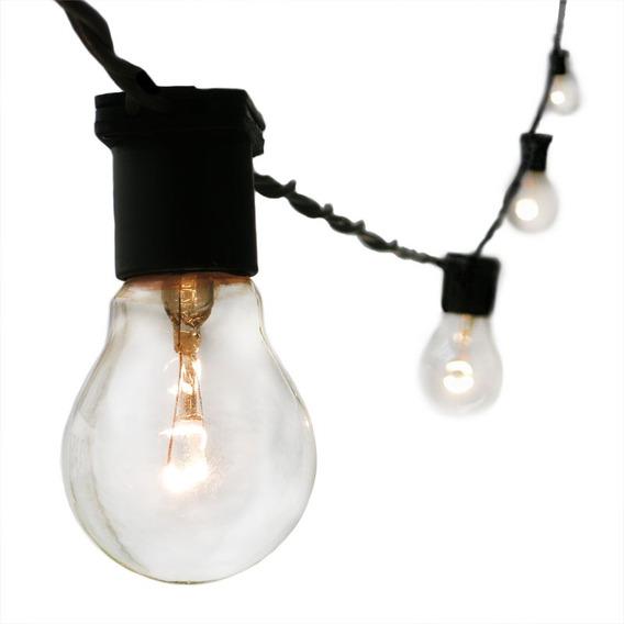 Varal De Luzes Cordão De Iluminação Gambiarra Lâmpada 10m Pt