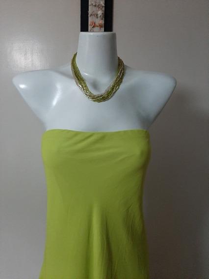 Hermoso Vestido De Fiesta Largo Verde Manzana
