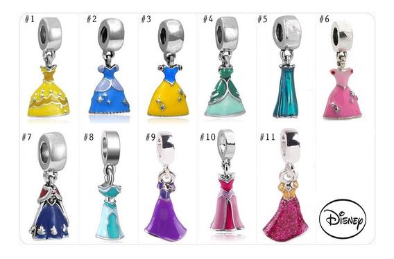 Charm Dije Compatible Pandora Vestido Princesas Disney