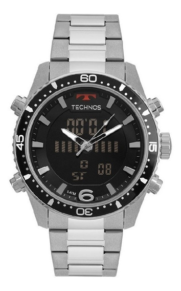 Relógio Technos Masculino Prata Anadigi Ref. - Bjk203aac - Mega Promoção C/ Nf E Garantia De 1 Ano