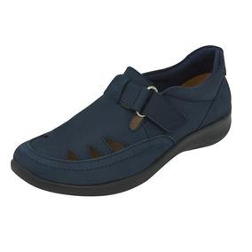 Flats Casuales Confort Dama Azul 020486 De Piel Tp19
