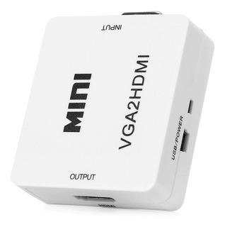 Convertidor Hdmi A Vga Tv Monitor Portatiles Pc + Audio