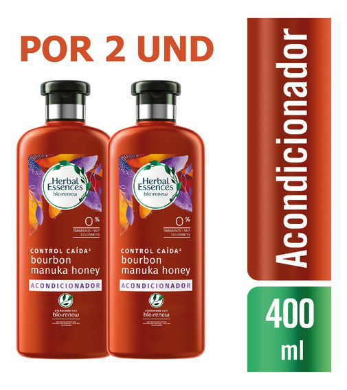 Acondicionador Herbal Essences Bío:manuka 400ml X2 Und