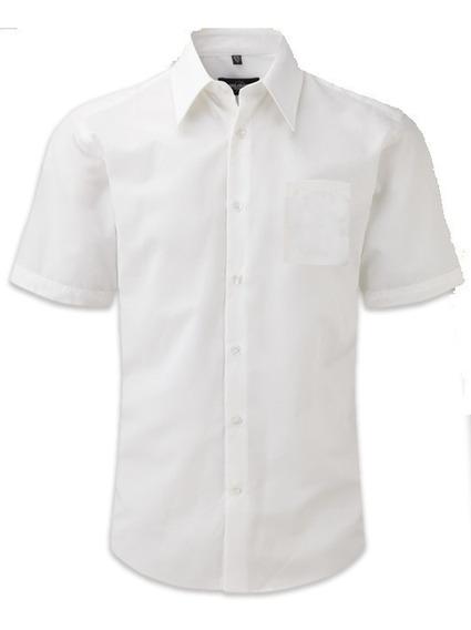 Camisa Escolar Blanca-azul-beis Tallas 16-ss-s