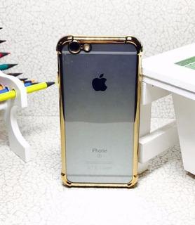 Capinha Capa Case Anti-impacto iPhone 6 Plus Dourada Gold