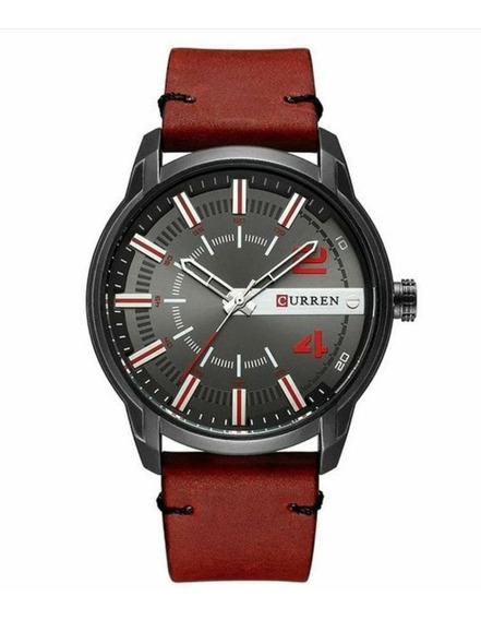 Relógio Masculino Curren Analógico 8306 - Preto E Vermelho