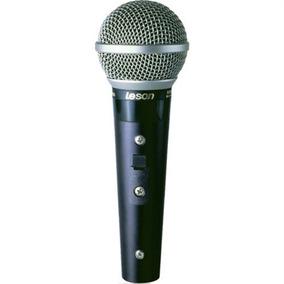 Microfone Profissional Com Fio Sm58 Plus Leson