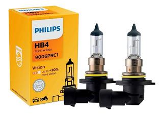 Par Lâmpadas Halógena Auto Philips Original Hb4 9006 51w 12v