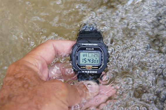 Relógio Aqua Prova Dagua Garantia Mod Gp519 Bolsonaro Usa