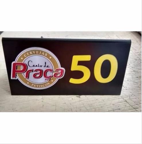 Placa Número Mesa Bar Restaurante Seu Logo 40pç Acrílico