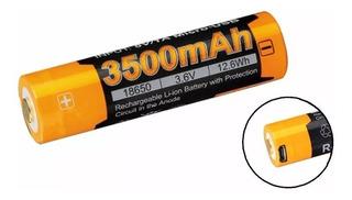 Bateria Recargable 18650 Fenix 3500mah 3.6v Puerto Usb