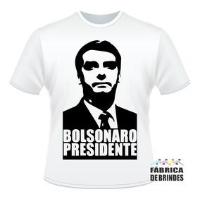Camiseta Jair Bolsonaro Presidente Mito Branca Bossonaro