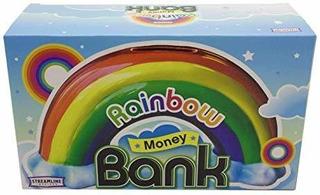 Streamline Ceramic Rainbow Money Bank, Multicolor.