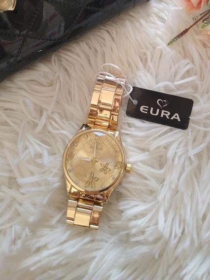 Relógio Feminino Dourado Eura