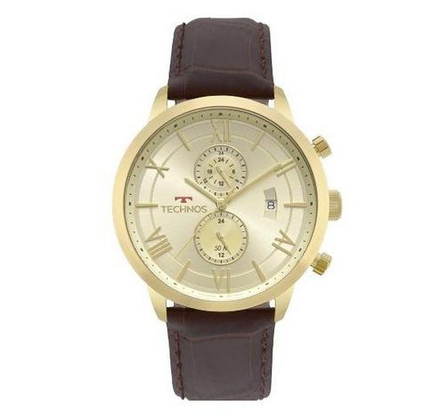 Relógio Technos Masculino Ref: Jp11ad/4x Multifunção Dourado