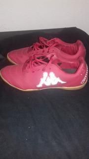 Chuteira Futsal Kappa N° 40 - Masculino - Vermelha -seminova