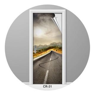 Rodovia Caminho Estrada Adesivo Para Porta Criativo Cr-31