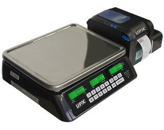 Combo Balança Comercial Etiquetadora Wifi 30kg Upx Inmetro Padaria Mercado Imprime Código De Barra Tabela Nutricion