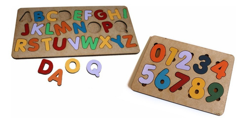 Imagem 1 de 3 de Tabuleiro Alfabeto+números Brinquedo Educativo Pedagógico