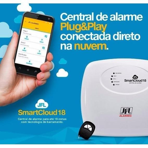Central De Alarme Smartcloud 18 Jfl + Modulo Me-04 Promoção