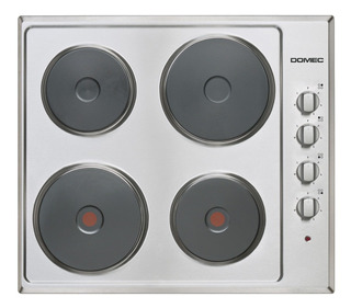 Anafe Electrico Domec Ge66 Acero 4 Hornallas Selectogar6