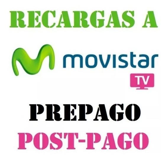 Recargas Movistar Tv Prepago - Postpago