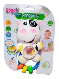 Sonajeros Vaquita Con Luz Y Sonido Poppi Baby