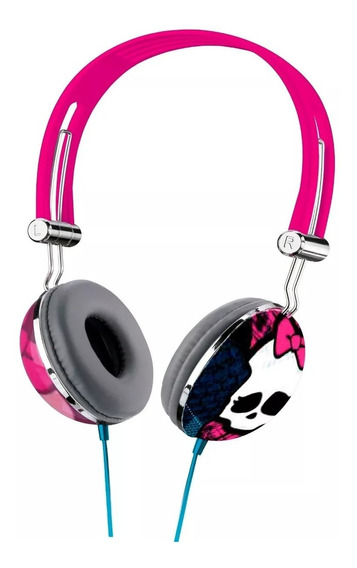 Fone Ouvido Headphone Monster High Pink Multilaser Ph099