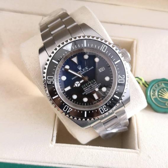 Relógio Masculino R. Deepsea Azul - Preto / Com Caixa Verde
