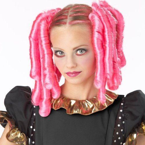 Peluca Animé Curls, Azul O Rosa, Para Disfraz. Envío Gratis