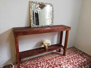 Mueble Recibidor Con Espejo Liquidación