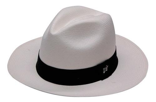 Sombreros Paja Toquilla Ecuador Hechos A Mano Blanco Y Beige