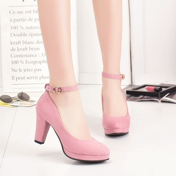 Sapato Scarpin Salto Médio Confortável Ref324