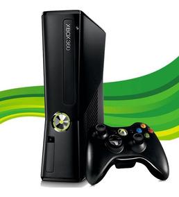 Xbox 360 Slim Original + 1 Controle + 1 Jogo Original